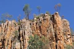 Formaciones de roca en Katherine Gorge en Australia Foto de archivo