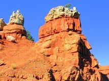 Formaciones de roca en parque de estado rojo del barranco en Utah Fotografía de archivo libre de regalías