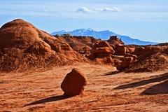 Formaciones de roca en valle del duende Imagenes de archivo