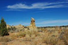 Formaciones de roca a lo largo del camino plano de la chaqueta de punto Imagen de archivo
