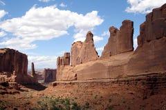 Formaciones de roca, parque nacional de los arcos Imágenes de archivo libres de regalías