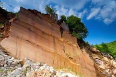 Formaciones de roca rojas Imagen de archivo libre de regalías