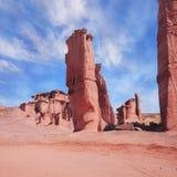 Formaciones de roca rojas. Imagen de archivo
