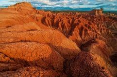 Formaciones de roca rojas de Tatacoa Fotografía de archivo
