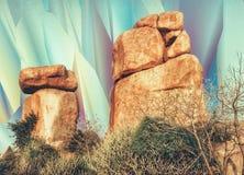Formaciones de roca y visiones psicodélicas Imagen de archivo libre de regalías