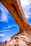 Formaciones escénicas de la piedra arenisca de arcos parque nacional, Utah, los E.E.U.U. Foto de archivo libre de regalías