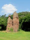 Formaciones geológicas de torres de la roca Fotos de archivo libres de regalías