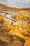 Formaciones minerales en yellowstone Foto de archivo