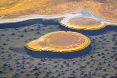 Formaciones minerales en yellowstone Fotografía de archivo libre de regalías