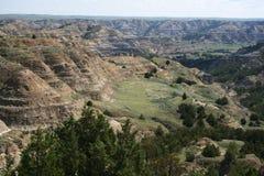 Formaciones, parque nacional de Theodore Roosevelt Imagenes de archivo