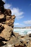 Formaciones y cielo de roca en sur de Australia Imagenes de archivo