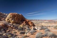 formacj czerwieni skały biel Zdjęcia Stock
