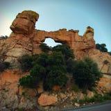 formacj czerwieni skały biel Zdjęcie Royalty Free