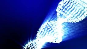 Formacja DNA DNA pasemka gromadzić od indywidualnych elementów ilustracja wektor