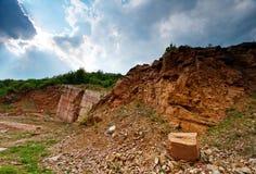 formacja krajobrazu marmurem czerwony Fotografia Stock