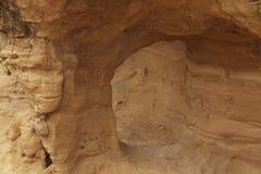 Formacja piaskowcowy tunel Zdjęcia Royalty Free