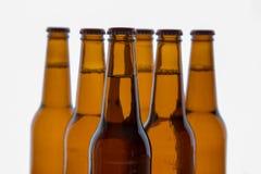 Formacja piwne butelki Zdjęcie Royalty Free