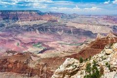 Formacje przy Uroczystym jarem, Południowy obręcz, Arizona, usa Zdjęcie Royalty Free