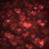 formad bakgrundsbokehhjärta Arkivfoton