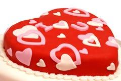 formad cakehjärta Arkivfoton