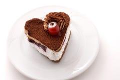 formad cakehjärta Royaltyfri Foto