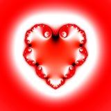 formad fractalhjärta Royaltyfri Fotografi