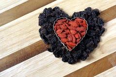 formad hjärta arkivfoton