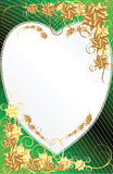 formad hjärta för bakgrundsblommaram Royaltyfria Foton