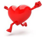 formad hjärtamaskot Royaltyfria Bilder