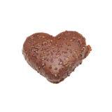 formad ljusbrun hjärta Arkivfoto