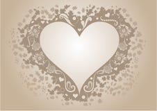 Formad ram för tappning hjärta Fotografering för Bildbyråer