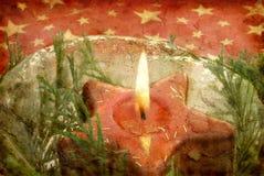 formad stjärna för stearinljus grunge Arkivbild