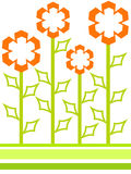 formade blommor Arkivbild