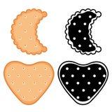 Formade kakor, smällare ställde in vektor illustrationer