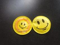 Formade sockerpåsar för SMILEY runda Royaltyfri Bild