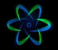 formade strimmor för atomenergi lampa royaltyfri illustrationer