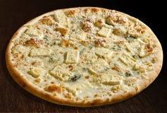 Formaggi del quattro de la pizza Imagenes de archivo