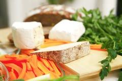 Formaggi delle specialità gastronomiche Fotografia Stock Libera da Diritti