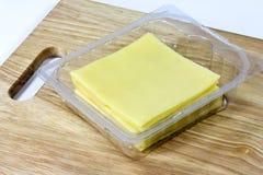 formaggio affettato Fotografia Stock