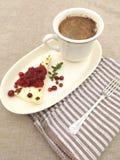 Formaggio al forno e caffè Immagine Stock