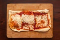 formaggio casalingo della pizza Fotografie Stock