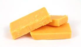 Formaggio di formaggio cheddar marcato Immagini Stock Libere da Diritti