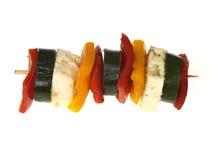 Formaggio di Halloumi e pepe Kebabs fotografie stock