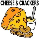 Formaggio e cracker Immagini Stock Libere da Diritti