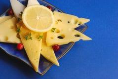 Formaggio e limone Fotografia Stock