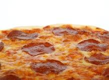 Formaggio e pizza di merguez italiani americani tradizionali Immagini Stock
