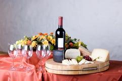 Formaggio e vino Fotografia Stock