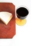Formaggio e vino rosso Fotografia Stock Libera da Diritti
