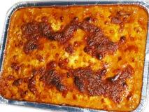 Formaggio fuso sulle lasagne al forno Fotografia Stock