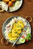 Formaggio indiano cucinato del paneer Fotografie Stock Libere da Diritti